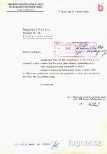 Obr. 10. Poděkování  SRPŠ - VÚZORT - Den dětí v roce 1964, základní škola ve Štěpánské ulici v Praze.