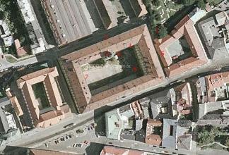 Obr. 2.  Olomoucké kasárny.- základní vojenská služba 1956.