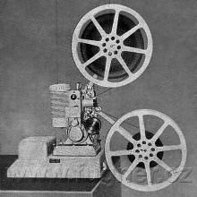 Obr. 10. Projektor Almo 16 - promítačka film 16 mm používaná  na základní vojenské službě.