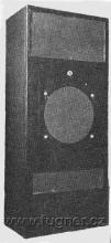 Obr. 15. Reproduktorová kombinace Tesla 10W pro malá kina - Vúzortský název  rakev.