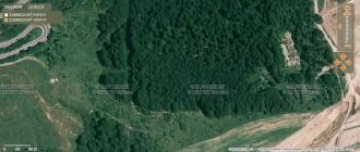 Obr. 3. Ten obdélník vlese snad byla rota - základní vojenská služba.
