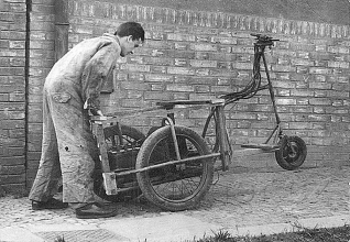 Obr. 10. Elektrotříkolka - příprava k jízdě.