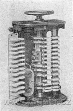 Obr.1. Válcový kontrolér pro stejnosměrný motor.