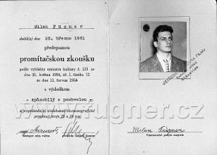 Obr. 17.  Můj promítačský průkaz - promítačská zkouška v roce 1961