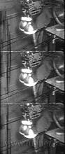 Obr.13. Sušení magnetického laku ventilátorem a dvěma infražárovkami