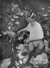 Obr.06. 1950 Stavím své první velké  vodní dílo na potůčku u lázní Ružbachy.