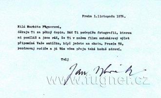 Obr.13. Dopis pana Wericha Markétě.